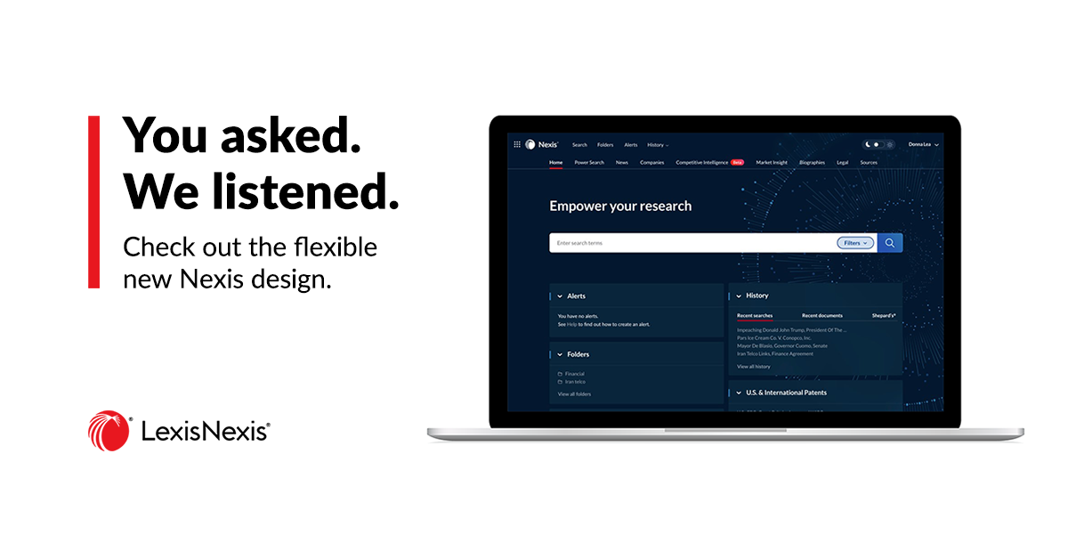 Come over to the Dark Side ... or the Light: It's Your Choice with the Nexis® Visual Redesign
