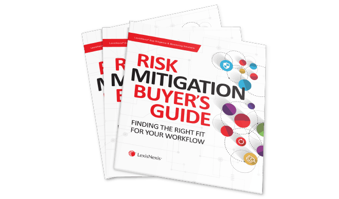 Lexisnexis, Risk Mitigation Buyers Guide, Compliance